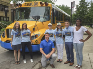 ELPC team on electric school bus tour of the Midwest.